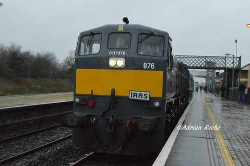 Irish Rail GM 076 In Charleville With The IRRS April Railtour.