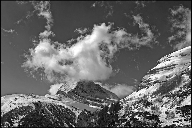 The Matterhorn , the Symbol of Switzerland. Winter paradise , a view from Zermat .No, 4106.