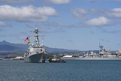 USS Spruance (DDG 111) arrives at Joint Base Pearl Harbor-Hickam, Nov. 3. (U.S. Navy/PO2 Katarzyna Kobiljak )