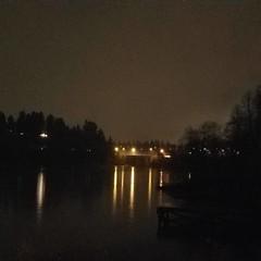capitol lake at night