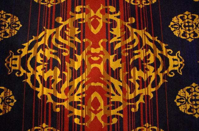 Rorschach test carpet - Menzies Hotel