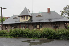 Old Pennsylvania Railroad passenger station building at Piccadilly and Kent