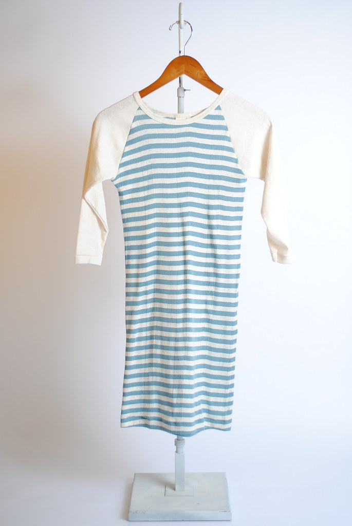 Baseball 1/2 Sleeve Striped Mini Dress