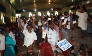 Delegates to the constitutional convention for the northern Somalia breakaway region of Puntland. The document was approved by nearly 500 delegates. by Pan-African News Wire File Photos