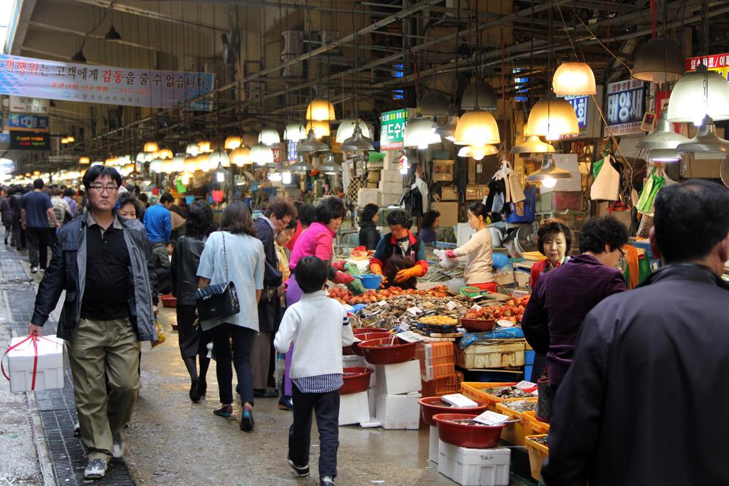 Amazing seafood at the Noryangjin Fish Market