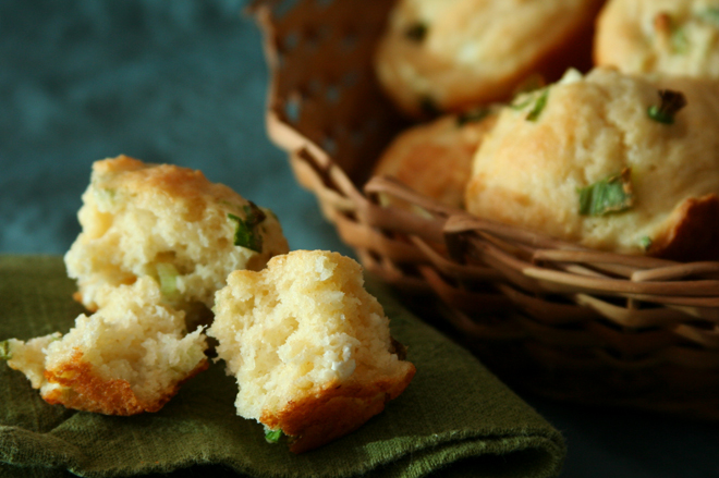 goat cheese scallion muffins 6