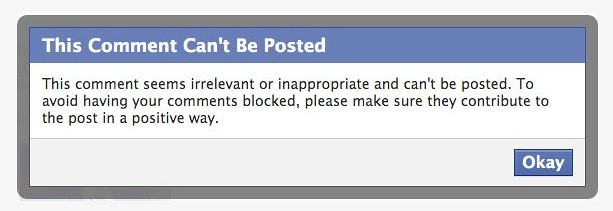 Facebook Comments system Controversy