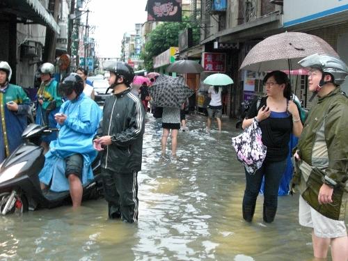 新北市中和區水災。湯為荃攝。