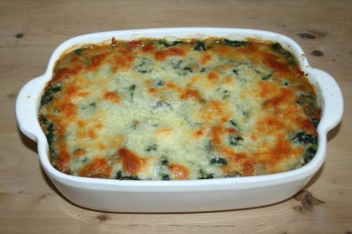 35 - Ravioli-Spinat-Gratin / Ravioli spinach au gratin - Fertig gebacken