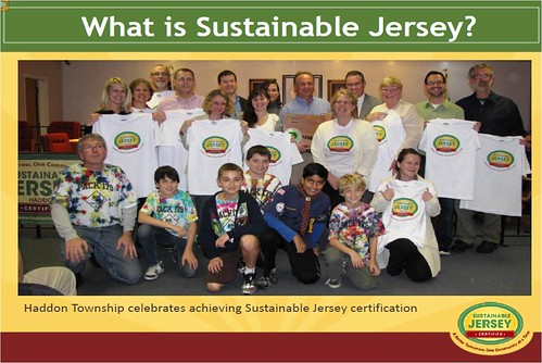Haddon Township, NJ celebrates certification (courtesy of Sustainable Jersey)