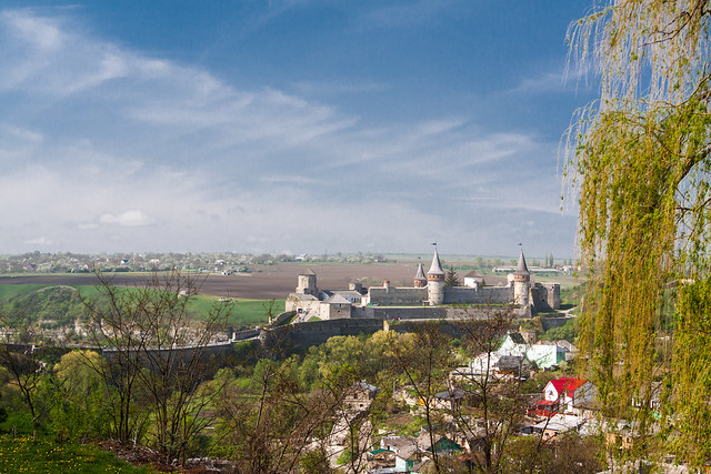 The View on Kamianets Castle