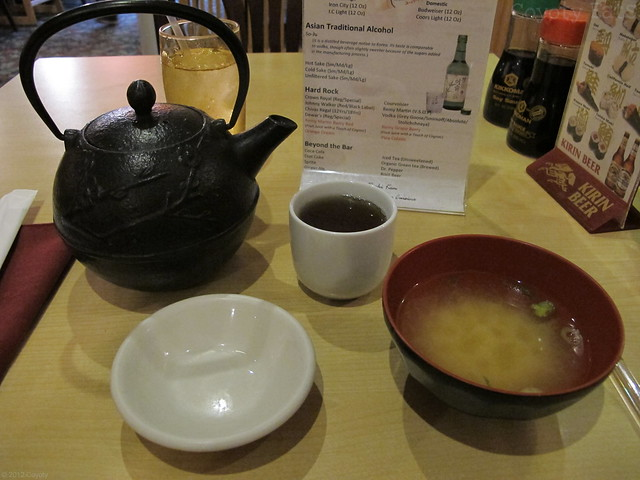 Green tea and miso soup