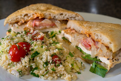 Grilled Chicken Sandwiches and Bulgur Salad