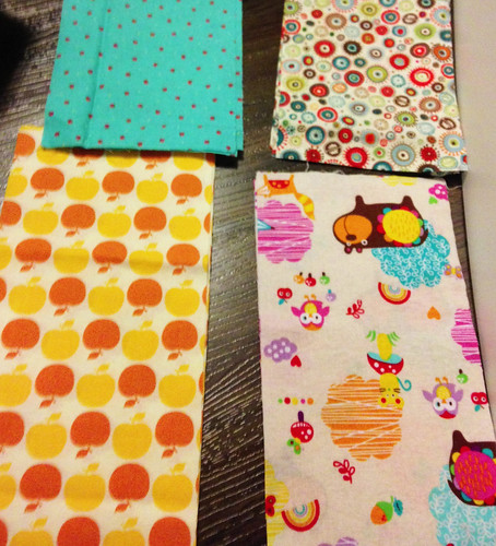 baby quilt pieces