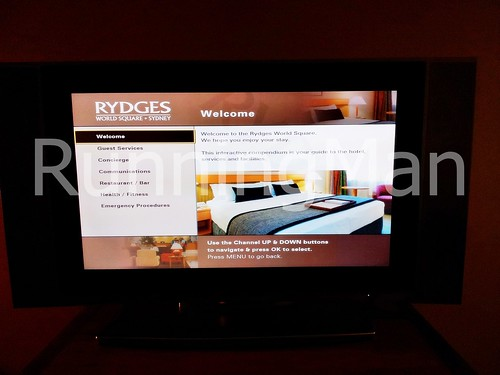 Rydges World Square Hotel 10 - In-Room TV Guide