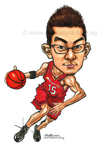 basketball player caricature for Property Guru