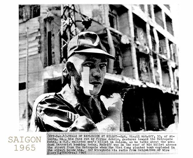 4/12/1965 Vụ đánh bom KS Metropole góc Trần Hưng Đạo-Nguyễn Cư Trinh (gần rạp Hưng Đạo)