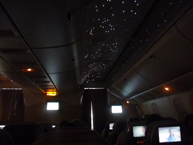 Starry night on Emirates flight