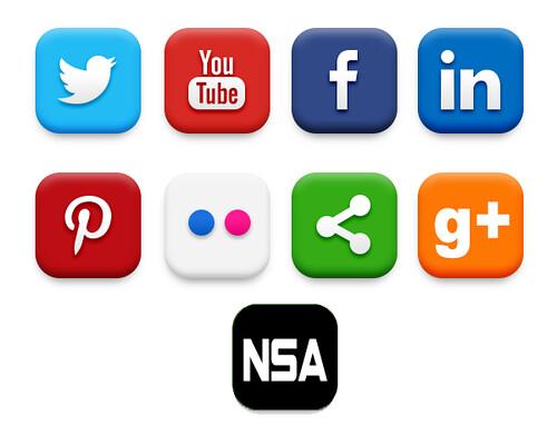 SOCIAL MEDIA BUTTONS by WilliamBanzai7/Colonel Flick