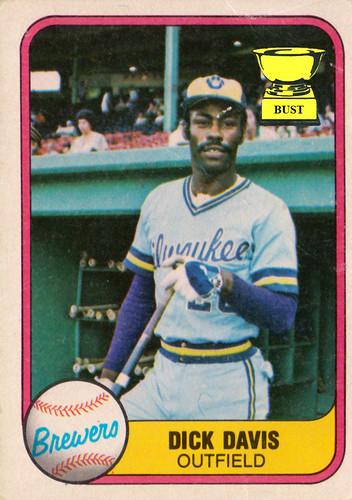 Baseball Card Bust Dick Davis 1981 Fleer