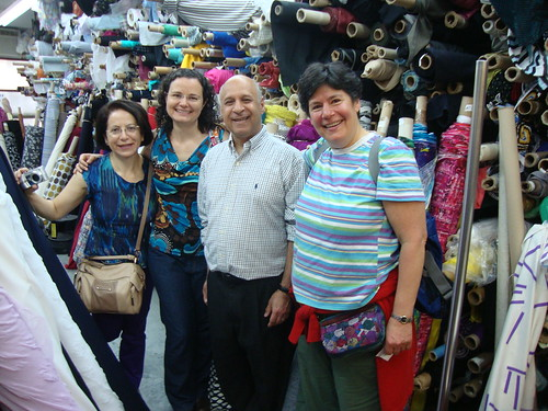 Maria, me, Kashi and Barbara at Metro Textiles