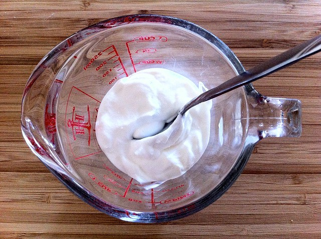Measuring Sour Cream