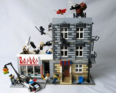 Ninjas sobre el tejado - Ninjas on the roof - Ninja Tales LEGO MOC 01