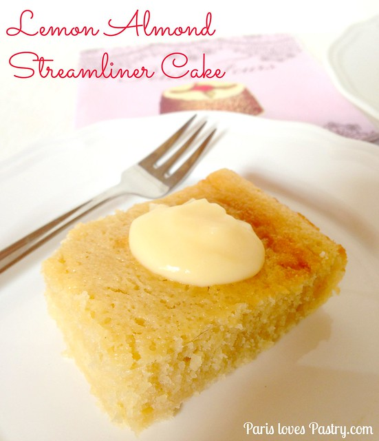 Almond Lemon Streamliner Cake