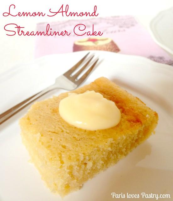 杏仁柠檬流线型蛋糕
