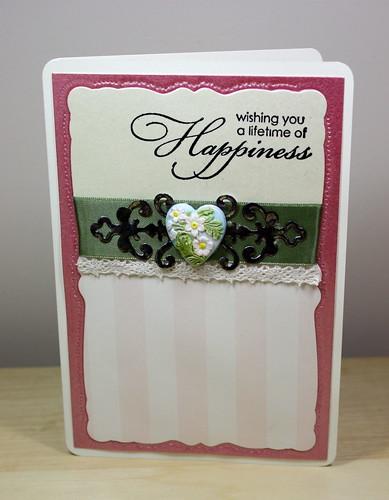 Heart Ironwork Embellished card