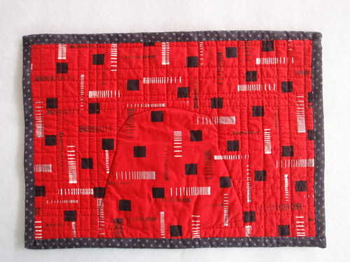 QUILTED PLACEMAT - Darth Vader (back)