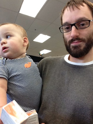 Elliott and Daddy at CVS