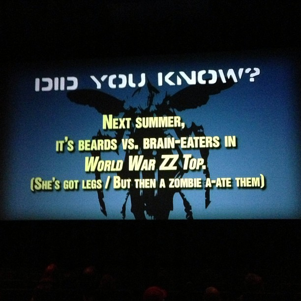 fluidr fake trivia slides before the rifftrax starship troopers