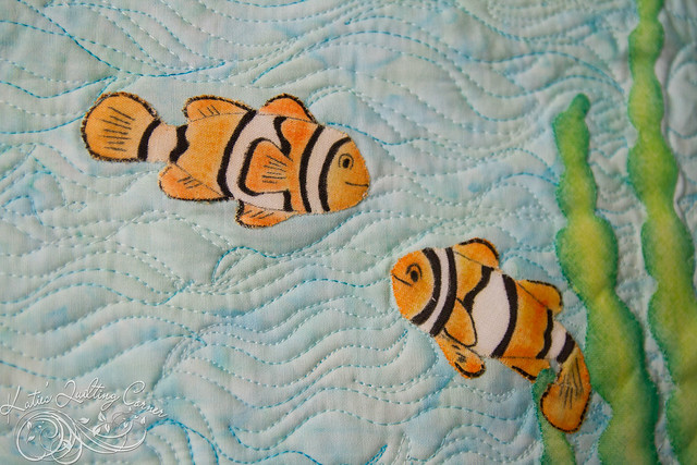 Melt and Blend Crayon Applique - Tropical Fish