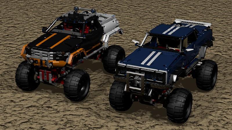 Rock Crawlers download LDD 9398 / 41999 - LEGO Technic and