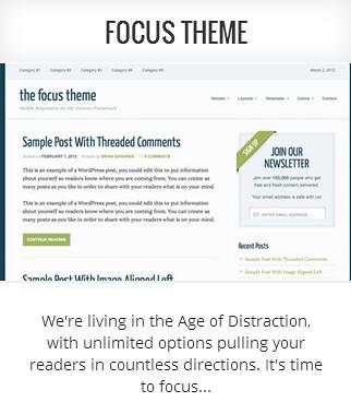 Genesis child theme Focus