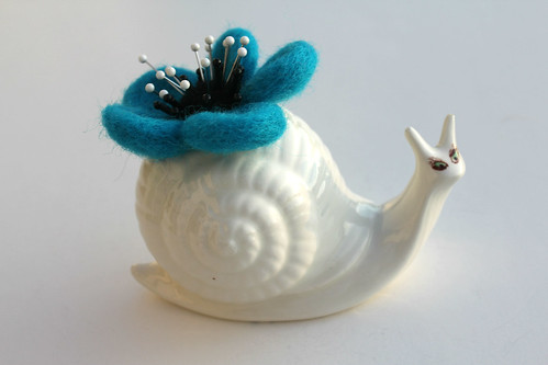 Coy Snail by Barbara Weiss