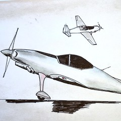Another page from my sketchbook: 2-seater aerobatic airplane. #sketch #airplane #aerobatics #aviation #design #airplanedesign #eaa #kitplane