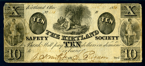 Archives Kirtland Safety Society note