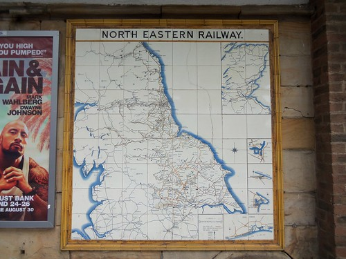 North Eastern Railway - Tile Map, Middlesbrough Railway Station by Craven, Dunnill and Co. Ltd. Jackfield