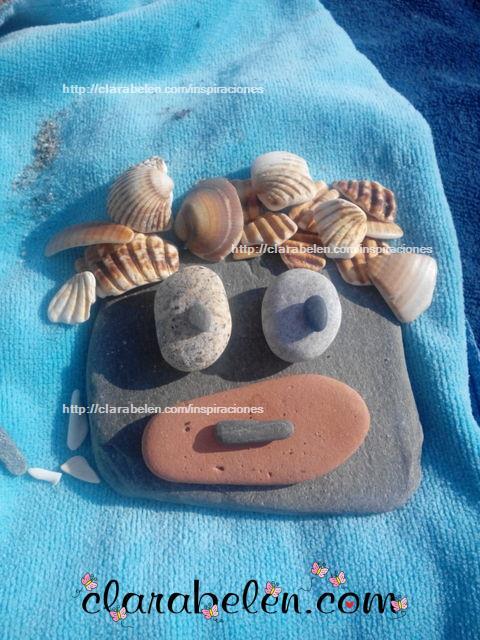 Inspiraciones manualidades y reciclaje manualidades de - Manualidades con piedras de playa ...