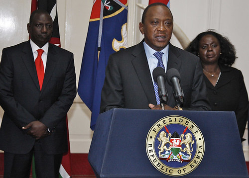 Kenyan President Uhuru Kenyatta announcing the conclusion tot the Westgate Mall incident in Nairobi. Nearly 70 have been reported killed. by Pan-African News Wire File Photos
