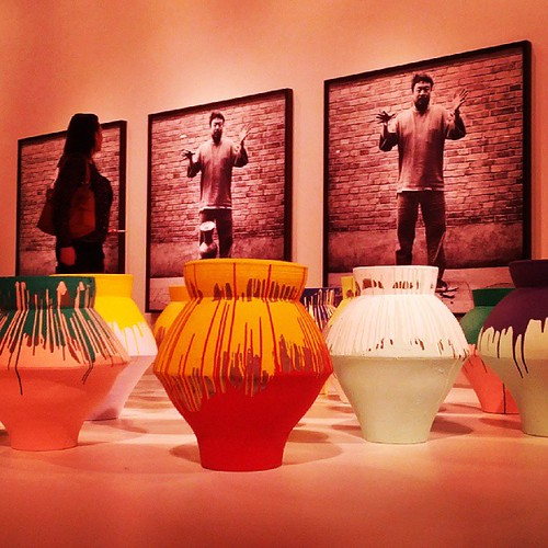 Colored Vases by Ai Weiwei