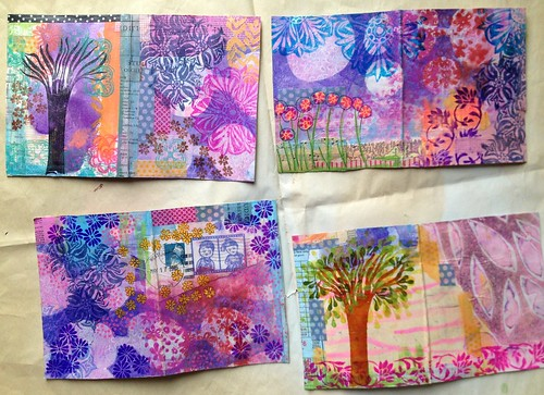 Small Art Journal Series - Outside Journal Covers before binding