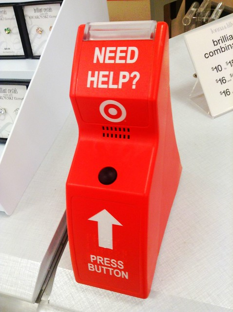Target Store Customer Help Button. Target call button, Target customer assistance button, Pics by Mike Mozart of TheToyChannel and JeepersMedia on YouTube. #Target #TargetStore #TargetHelpButton from Flickr via Wylio