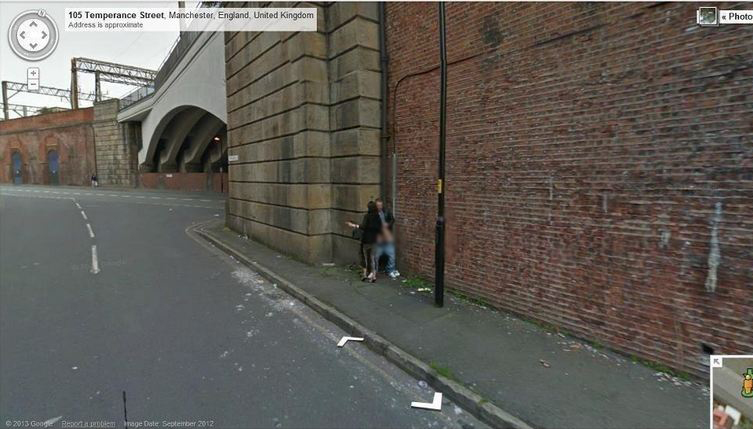 google street view catches sex on road prostitue giving a hand job