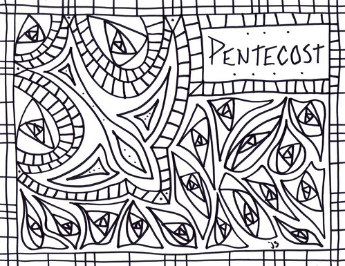 Pentecost Coloring pages Stushie Art