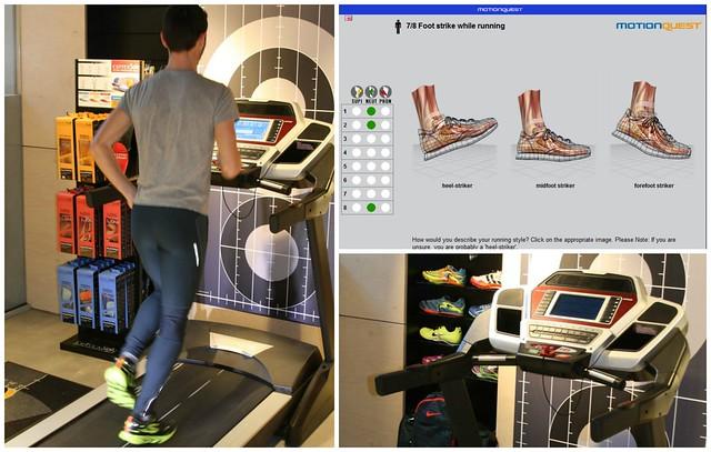 Απεικόνιση οθόνης (screenshot) για την έκτη  άσκηση, προσδιορισμού του τύπου πατήματος