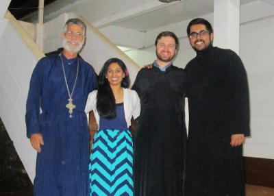 Seminarians Lijin, Edward, and Shawn, with Fr. Martin Ritsi