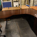 Mahogony rounded end radial office desk